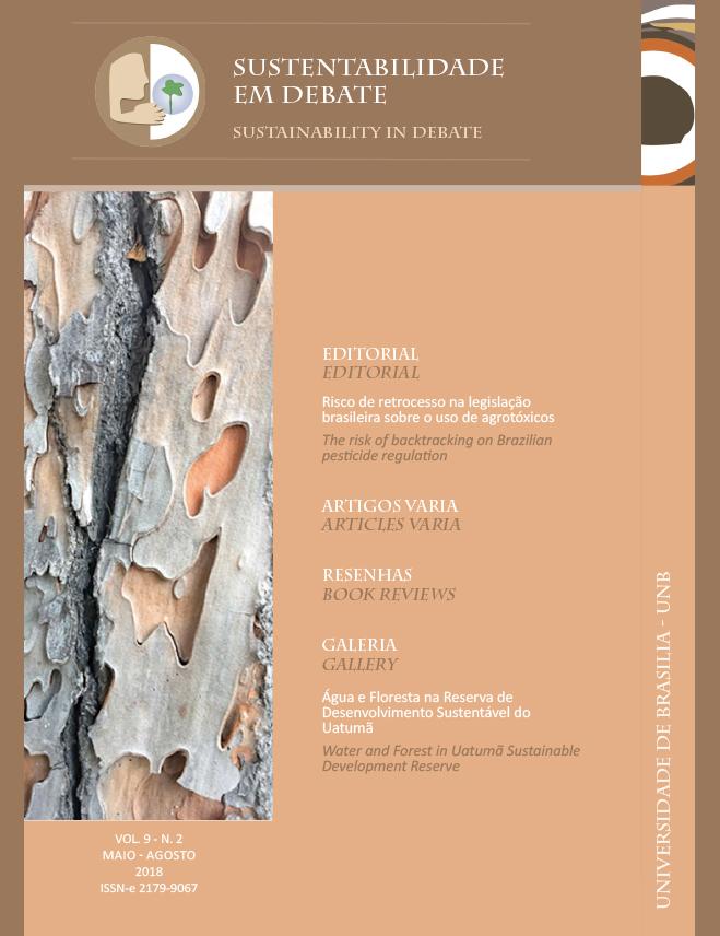 View Vol. 9 No. 2 (2018): Revista Sustentabilidade em Debate