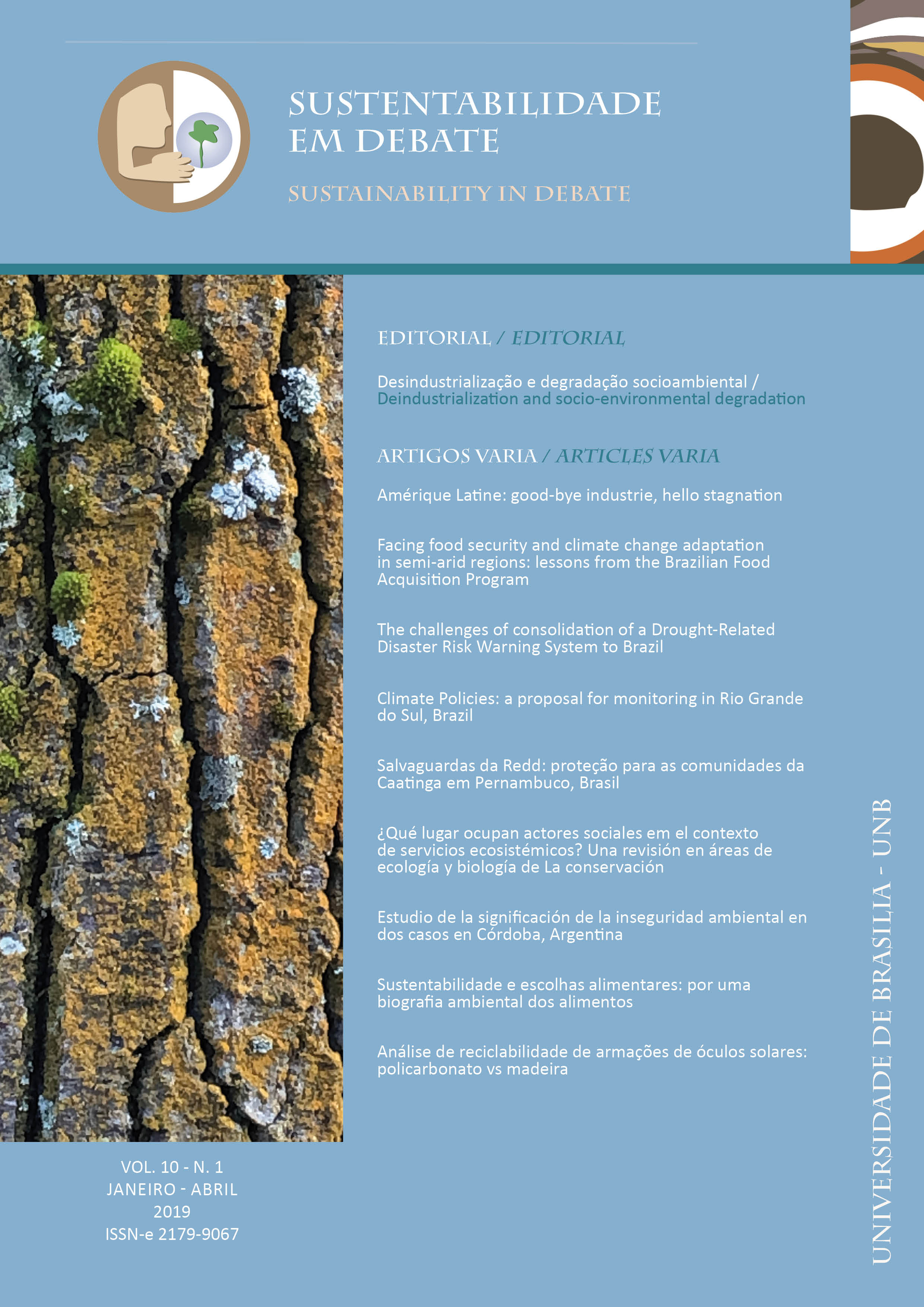 View Vol. 10 No. 1 (2019): Sustentabilidade em Debate