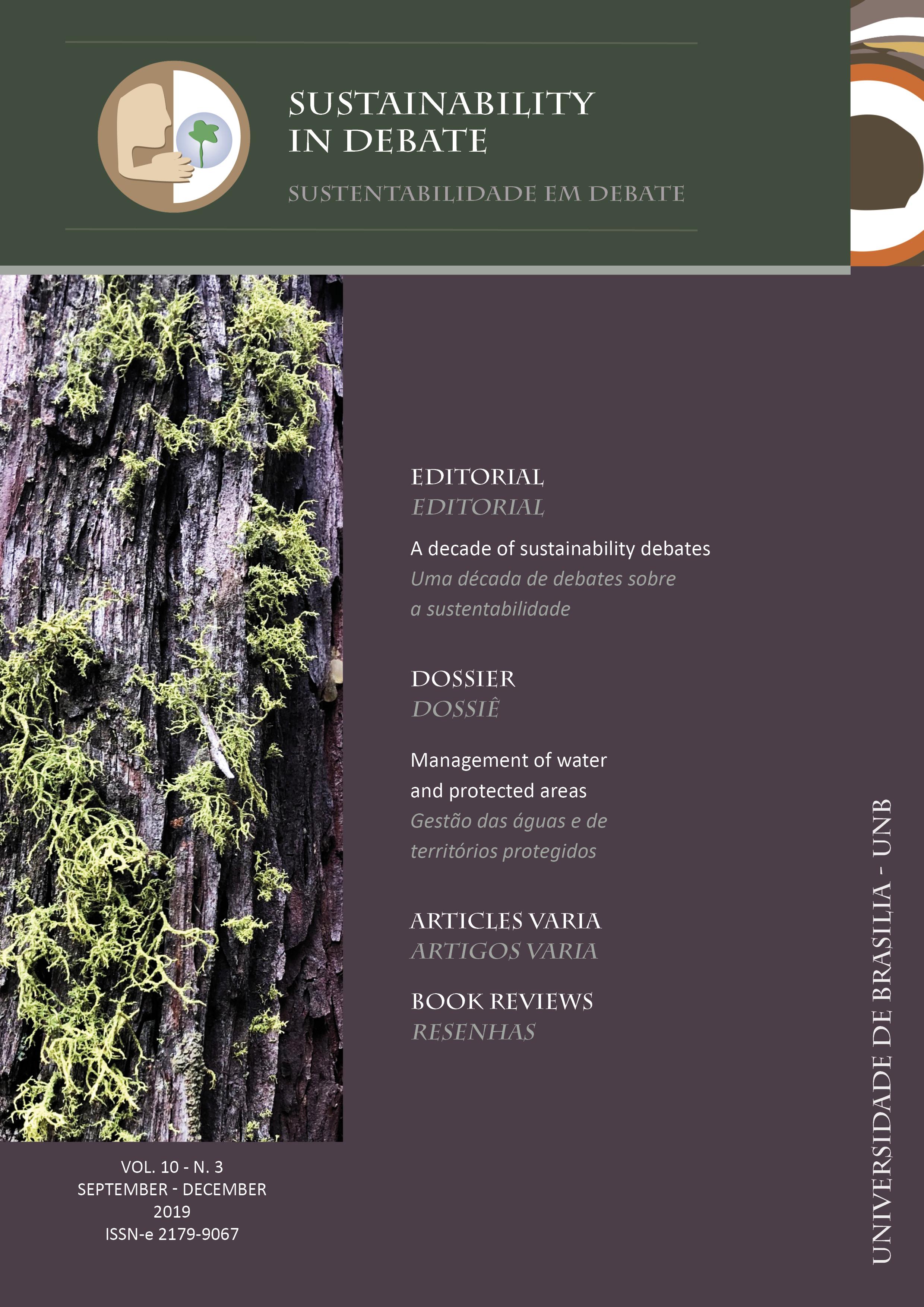View Vol. 10 No. 3 (2019): Sustainability in Debate / Sustentabilidade em Debate