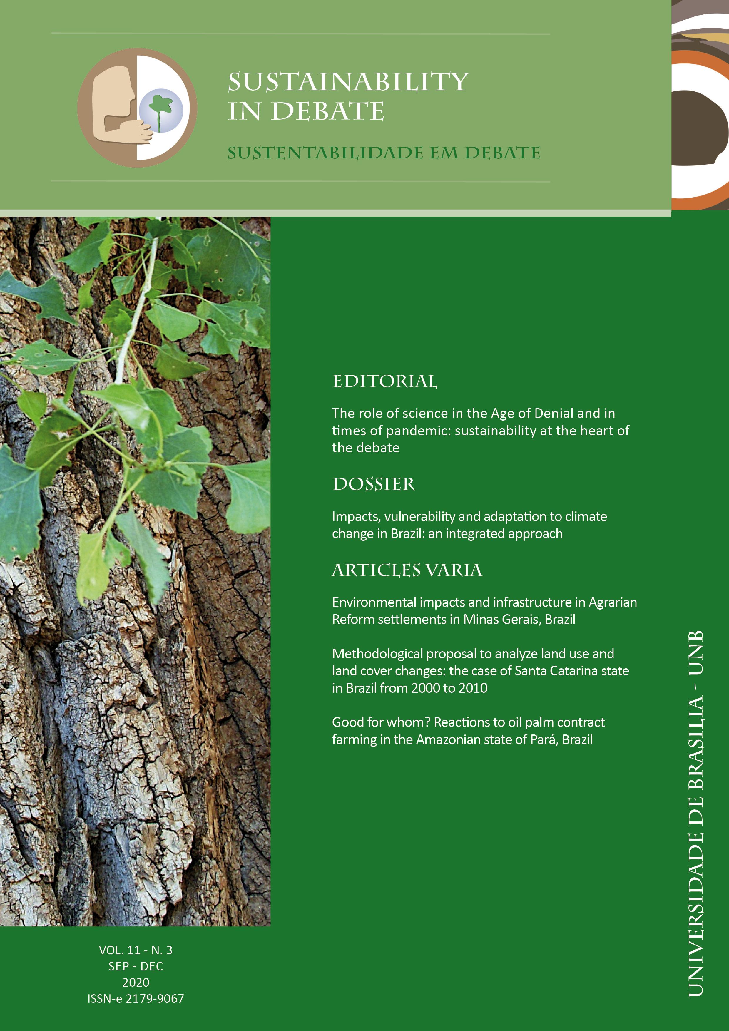 View Vol. 11 No. 3 (2020): Sustainability in Debate / Sustentabilidade em Debate
