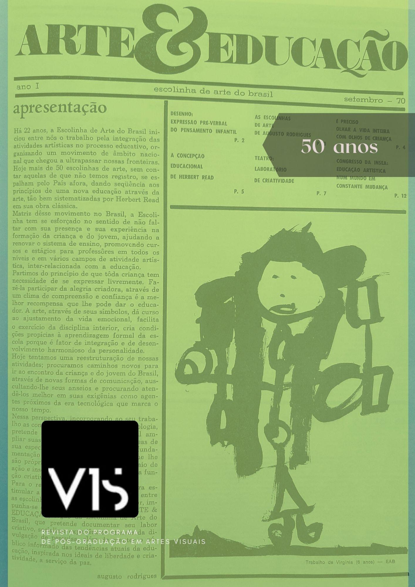 Visualizar v. 1 n. 20 (2021): Dossiê 50 anos - Jornal Arte&Educação