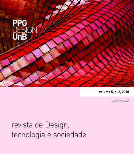 Capa da Revista de Design, Tecnologia e Sociedade, volume 5, número 2. Design Gráfico: Anderson L. de Moraes e Virgínia T. Souto.