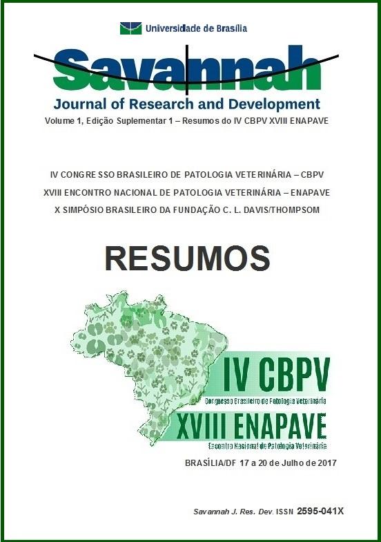 Visualizar v. 1 n. Sup.1 (2017): V.1 Edição Suplementar 1 (2017): Resumos do IV CBPV XVIII ENAPAVE