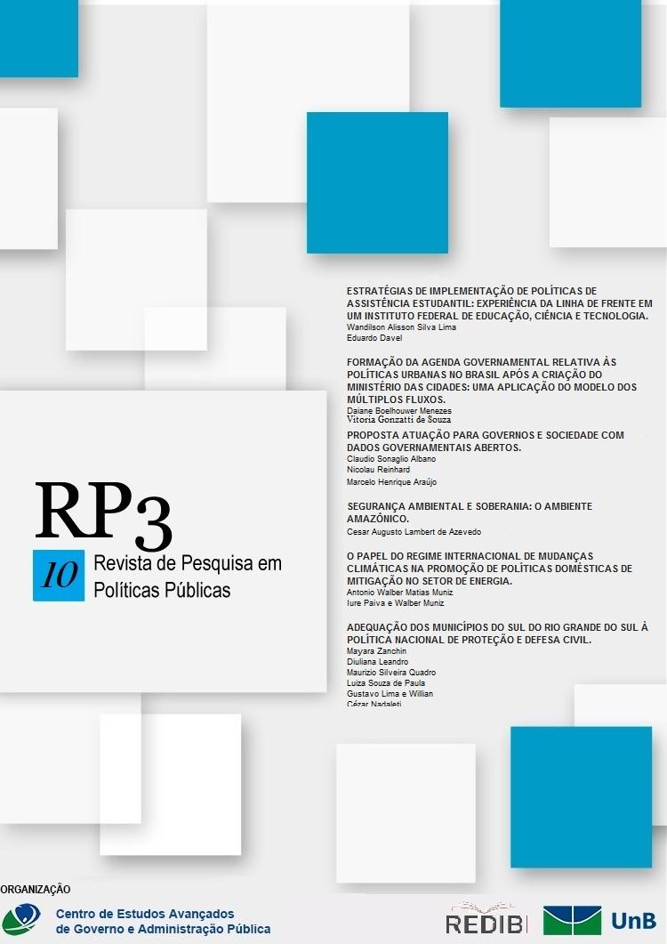 Visualizar n. 1 (2017): n. 1 (2017): RP3 - Revista de Pesquisa em Políticas Públicas
