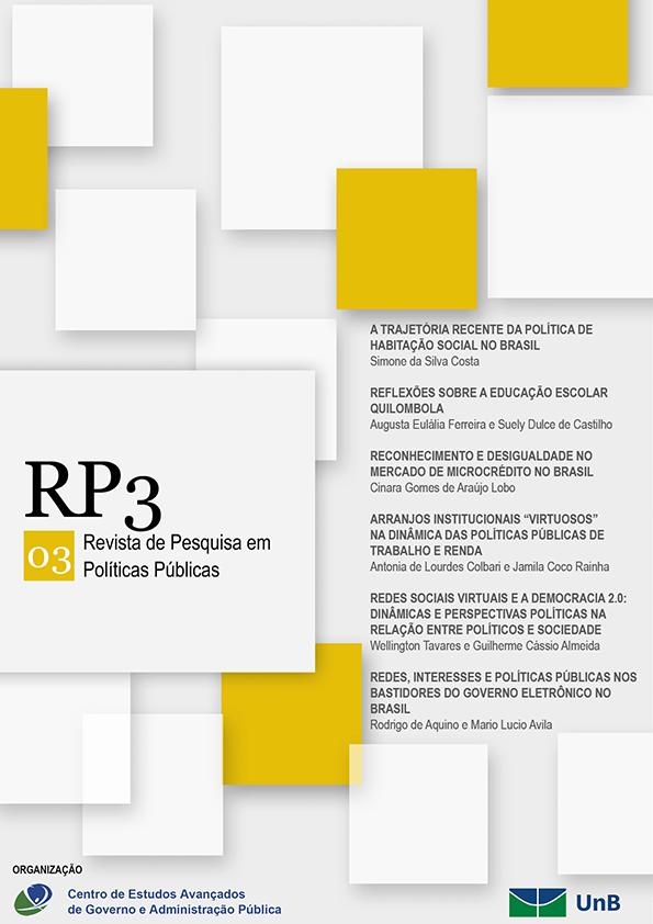 Visualizar n. 1 (2014): RP3 - Revista de Pesquisa em Políticas Públicas