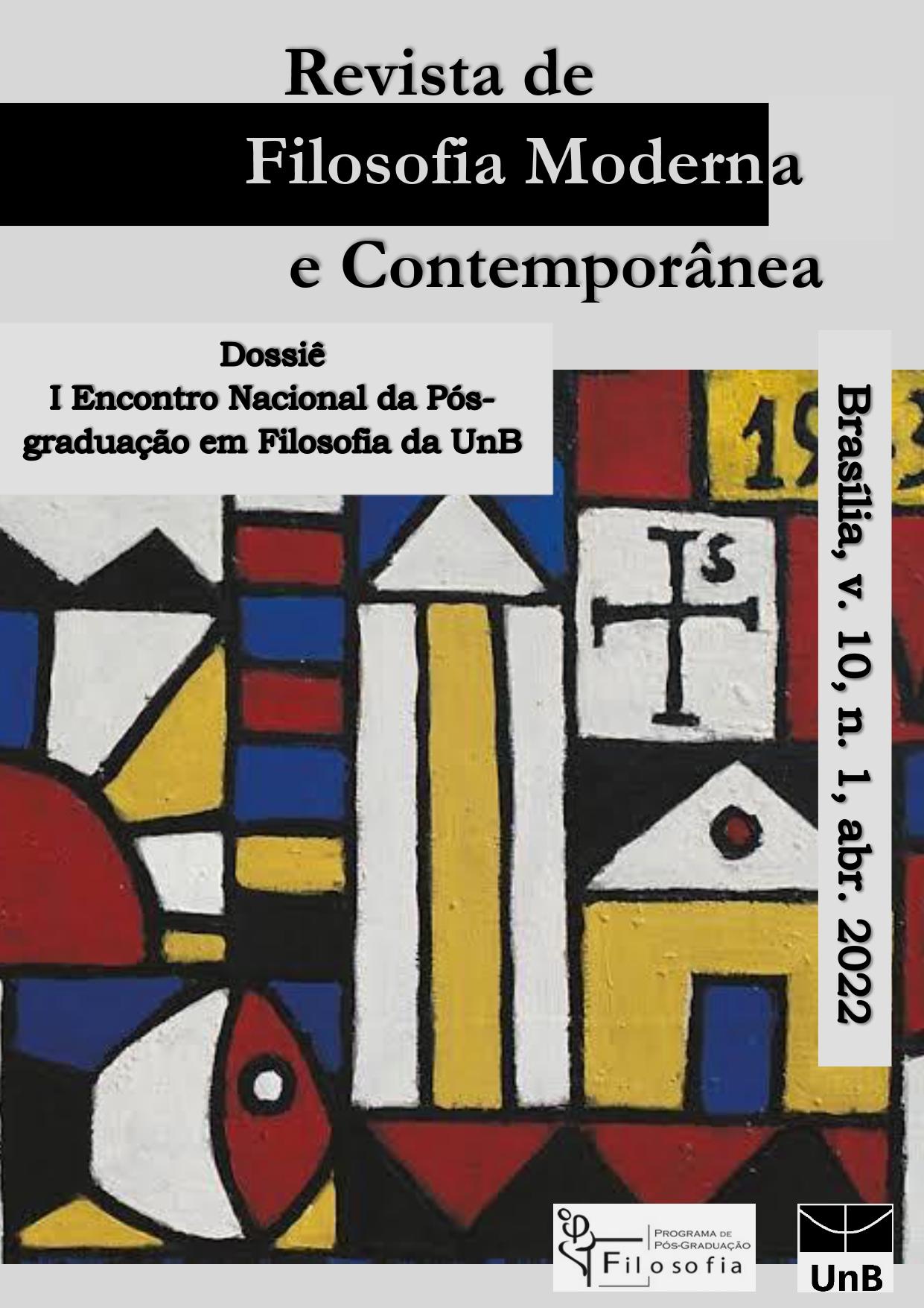 capa Revista de Filosofia Moderna e Contemporânea