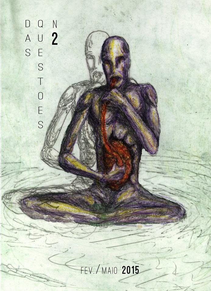 """O maior perigo da existência é que a nutrição humana é composta inteiramente de almas.  Ivaluardjuk, Xamã Inuit    capa: desenho e concepção de Rodrigo Acioli (""""Autofagia"""", 2015)"""