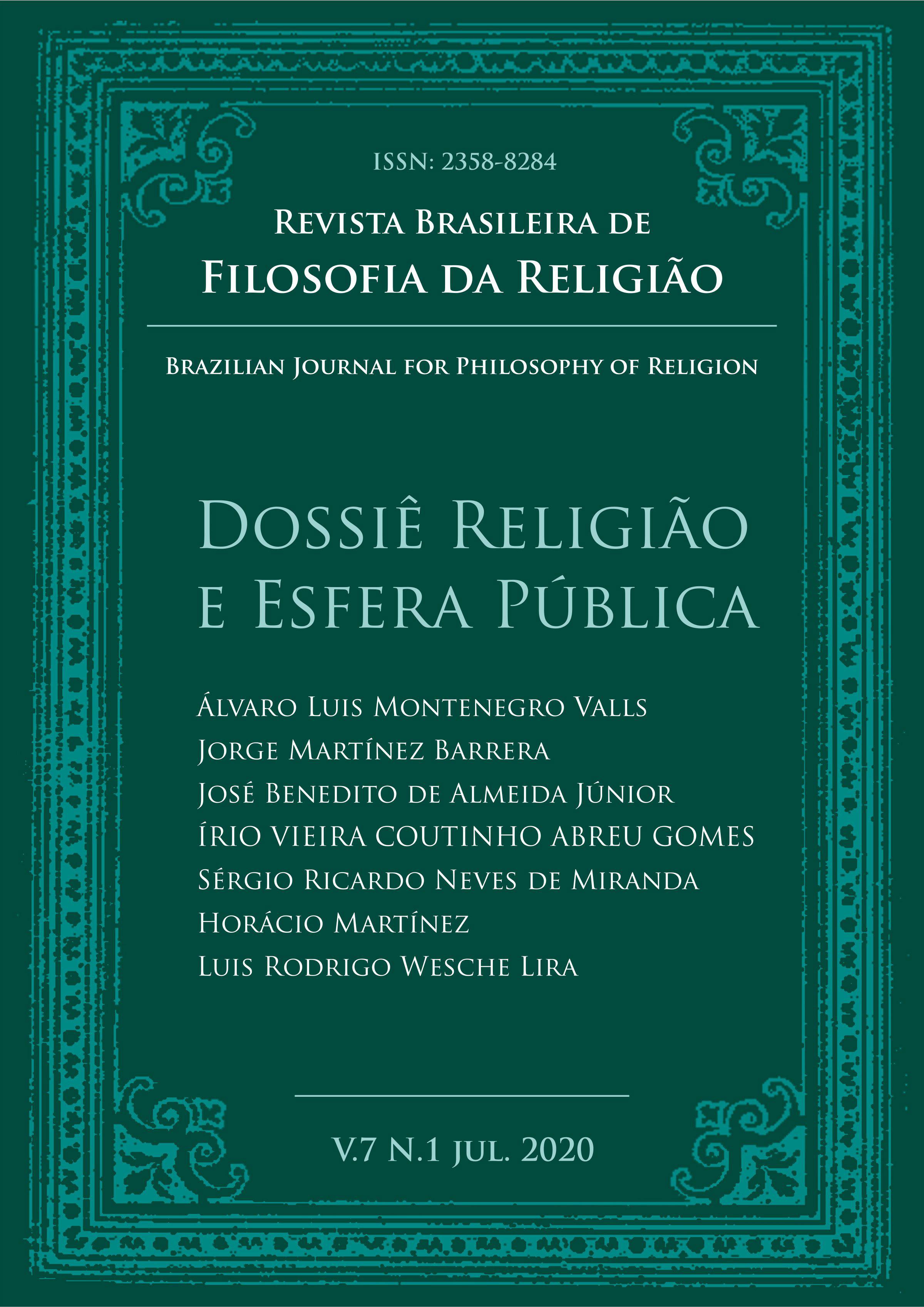 Visualizar v. 7 n. 1 (2020): Dossiê Religião e Esfera Pública