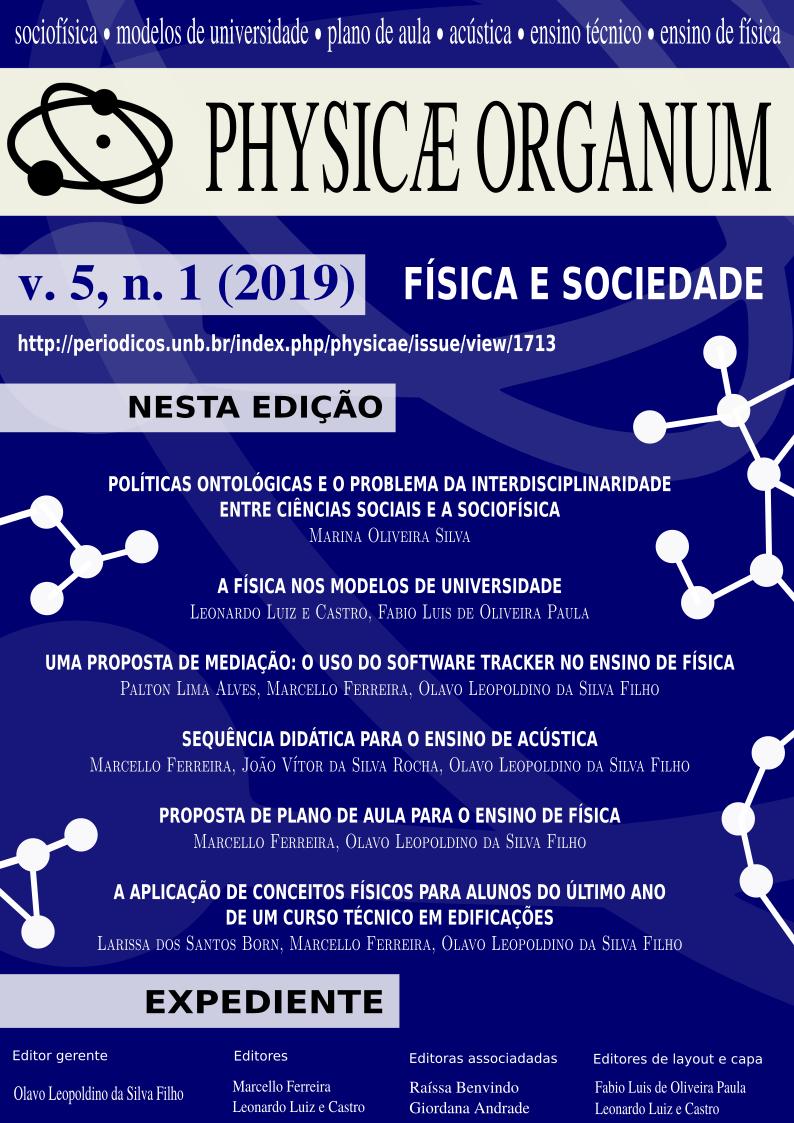 PHYSICAE ORGANUM v.5, n.1 (2019): FÍSICA E SOCIEDADE