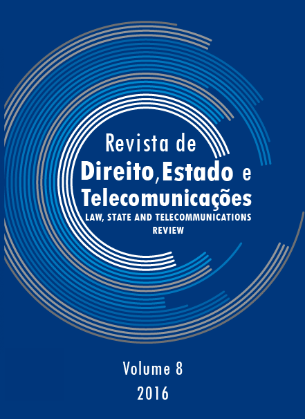 The Law, State and Telecommunications Review Volume 8 Issue 1 2016