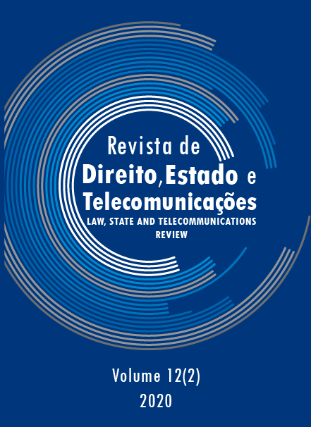 View Vol. 12 No. 2 (2020): Law, State and Telecommunications Review / Revista de Direito, Estado e Telecomunicações