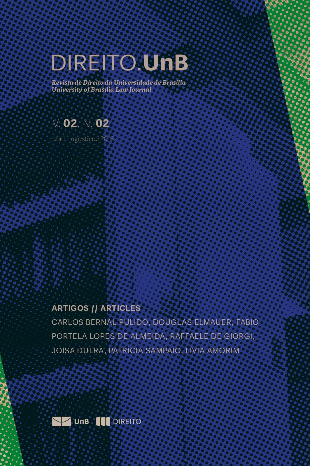 Capa da Revista Direito.UnB Volume 2, Número 2